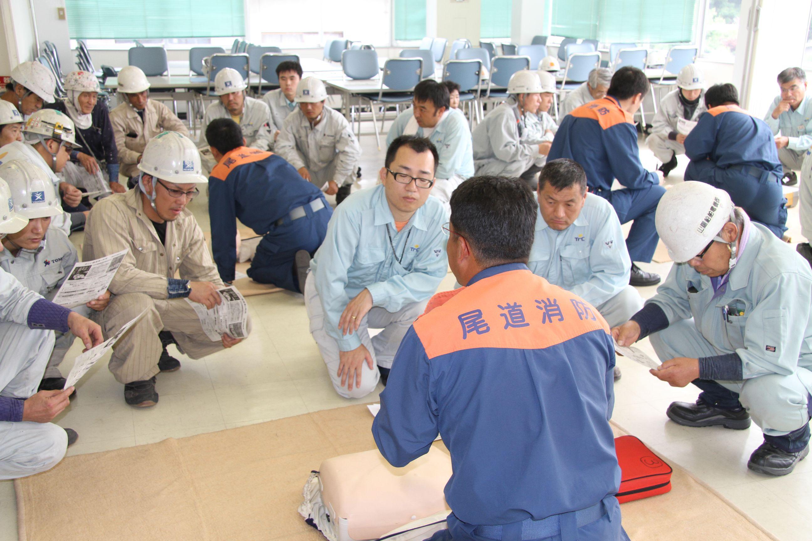 ツネイシクラフト&ファシリティーズ、安全週間に緊急時の措置に係る訓練を実施