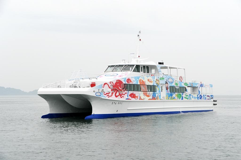 ツネイシクラフト&ファシリティーズ、明石海峡航路新船舶「まりん・あわじ」を竣工・引渡