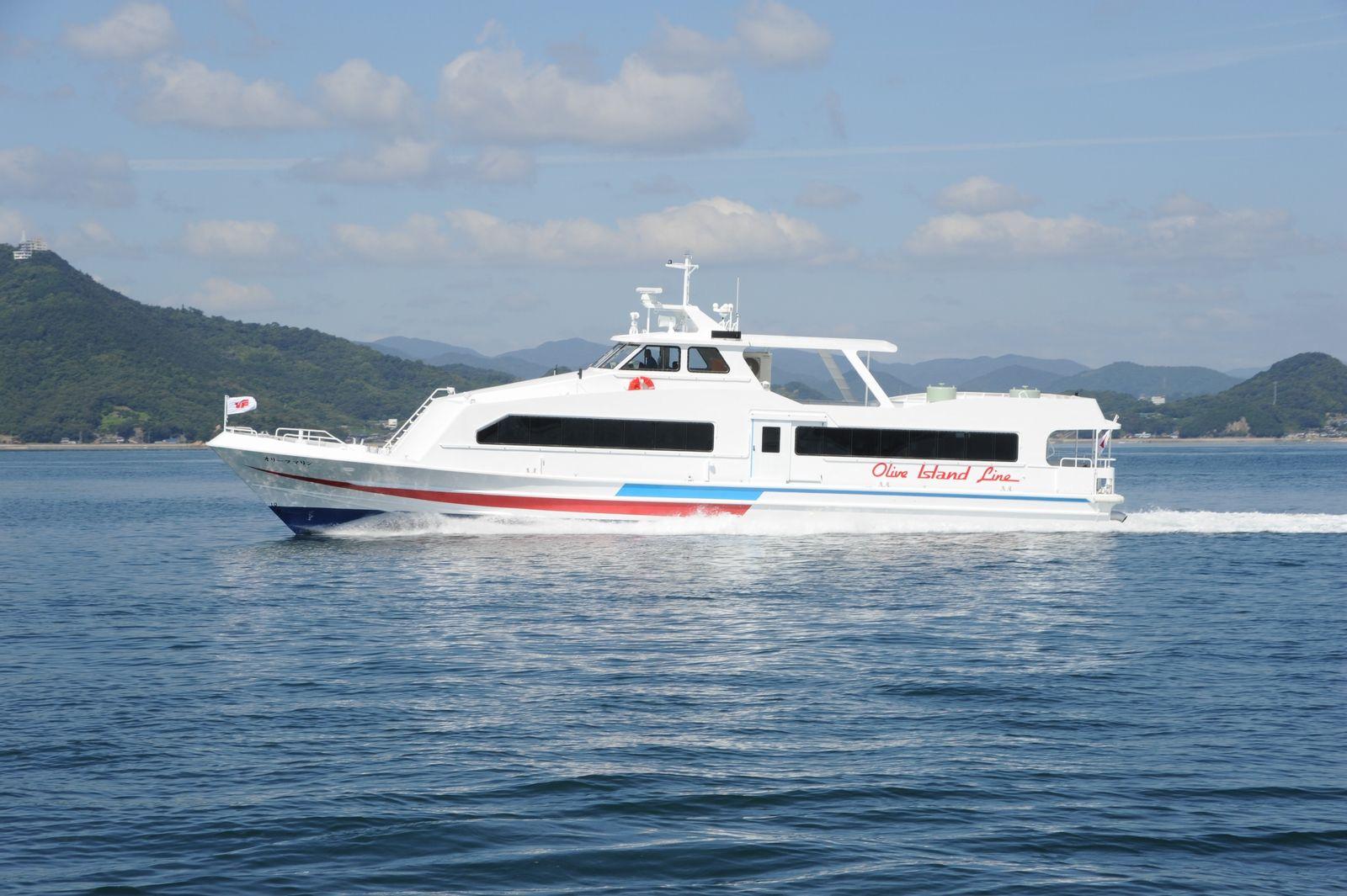 ツネイシクラフト&ファシリティーズ、58総トン型アルミ合金製旅客船「オリーブマリン」を竣工・引渡