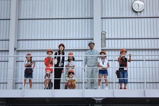 TFC造船工場にて