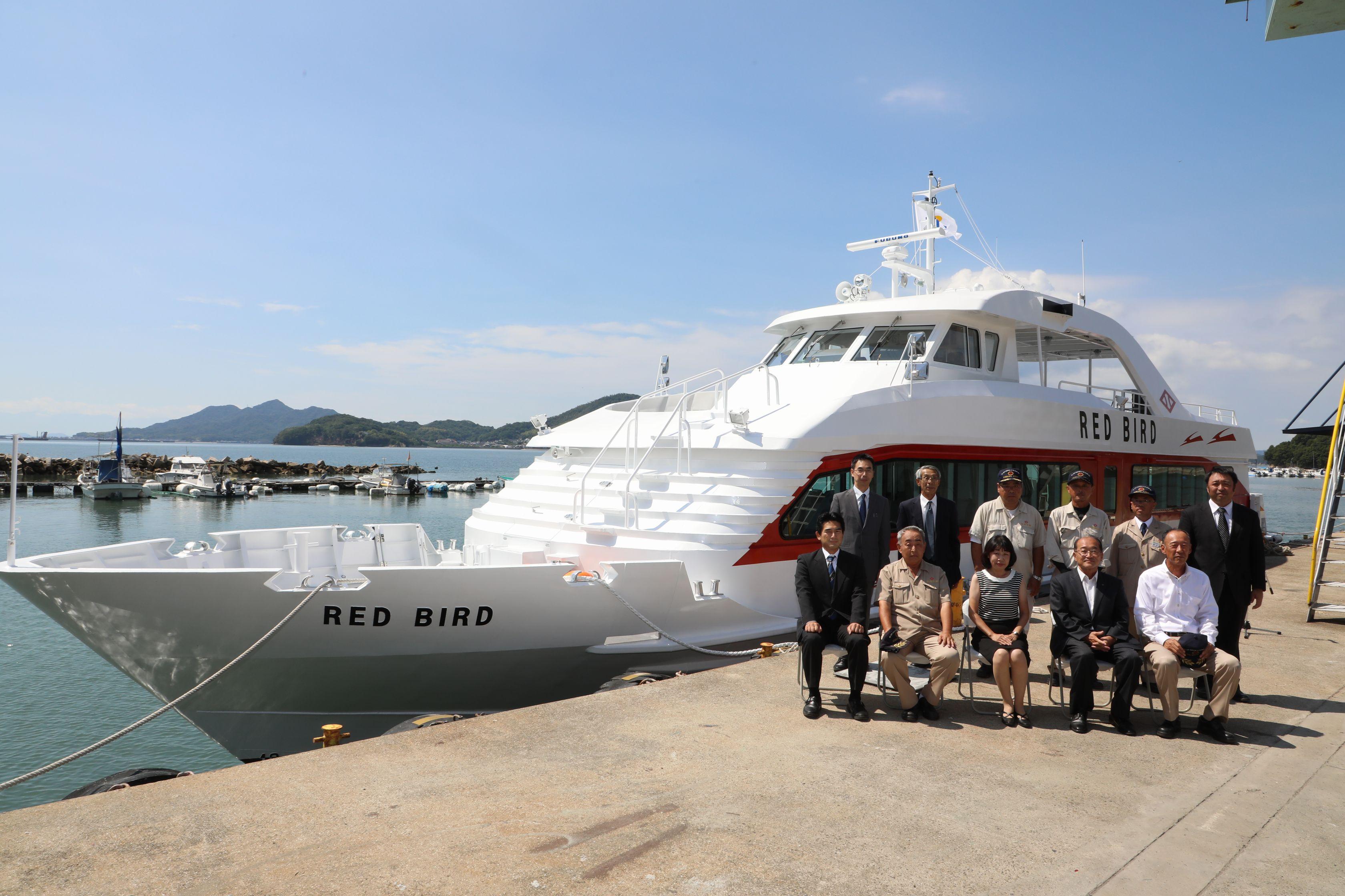 ツネイシクラフト&ファシリティーズ 高松港~直島~宇野港を結ぶ旅客船「RED BIRD」を竣工・引渡